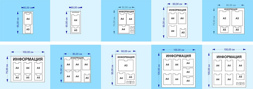 размеры информационных стендов